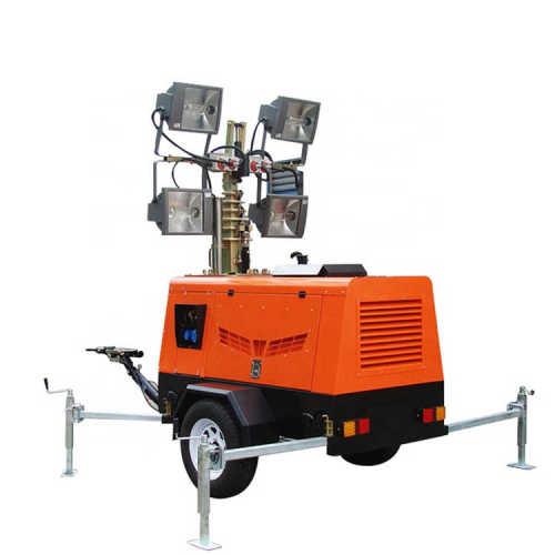 HVL4000 metal halide 9 meters extending height emergency light tower
