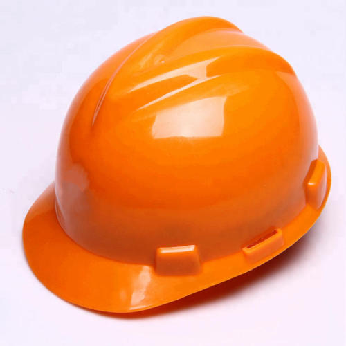 ABS material Safety Helmet V type with chin strap have red, blue, white, orange, yellow