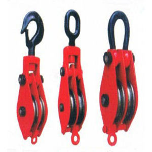 Hook type Two wheel lifting tackle/3-wheel pulley block