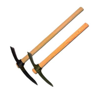 Heavy Duty Garden Tool Wooden Handle Steel Pick Pickax Head