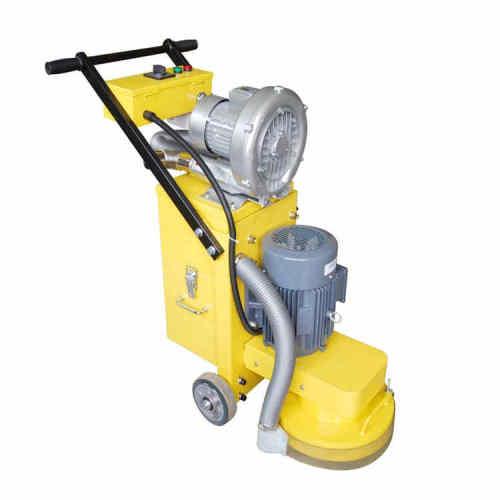 Dust free concrete floor polishing machine