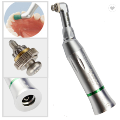 Low speed dental handpiece reduction prophylaxis contra angle