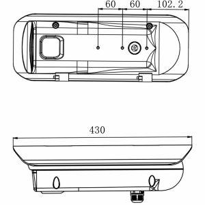 Cámara térmica tipo bala para exteriores de media distancia