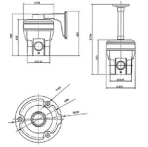 Cámara térmica domo de velocidad analógica para exteriores