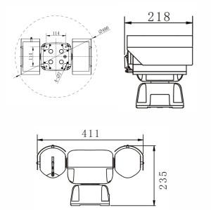 Sistema PTZ móvil de doble espectro - Cámara térmica para vehículos