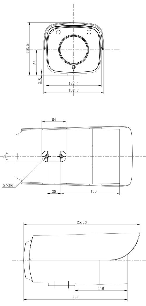 Cámara térmica tipo bullet IP para exteriores de corto y medio alcance