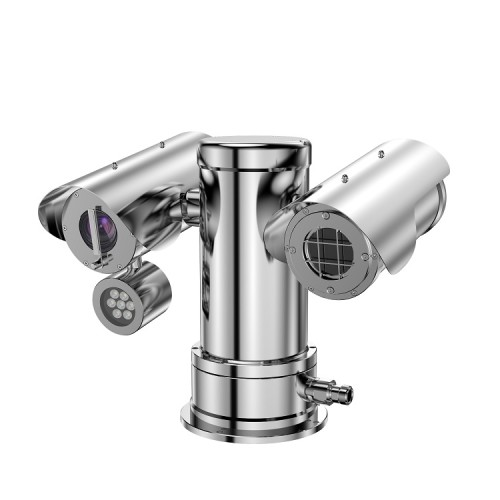 Remote distance double spectrum PTZ camera