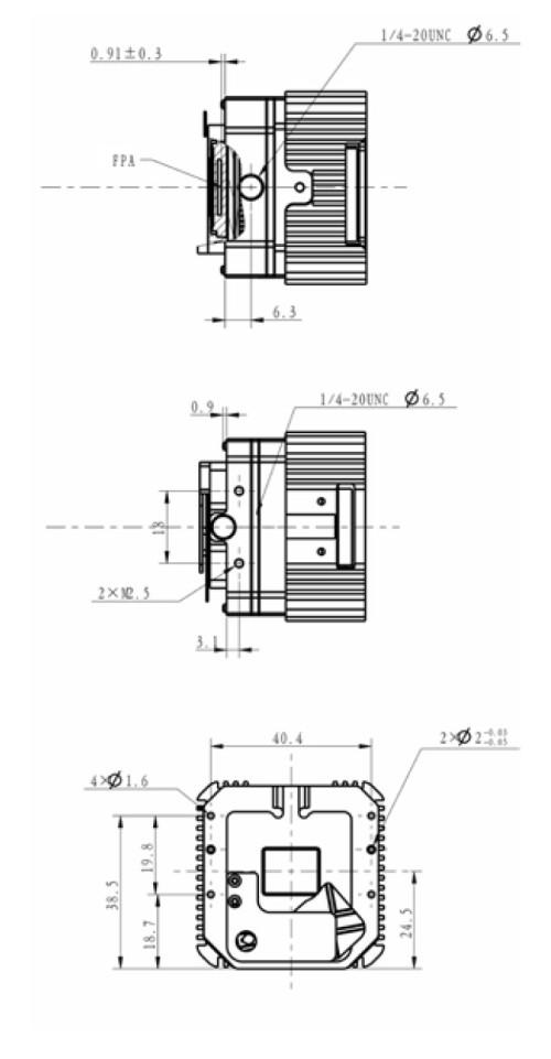 وحدة حرارية عالية الحساسية للتصوير الحراري الأساسي لكاميرا الأشعة تحت الحمراء