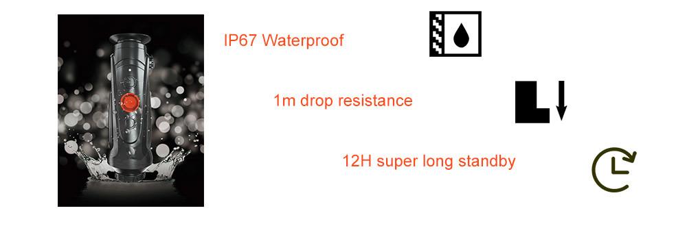 anti-drop thermal monocular