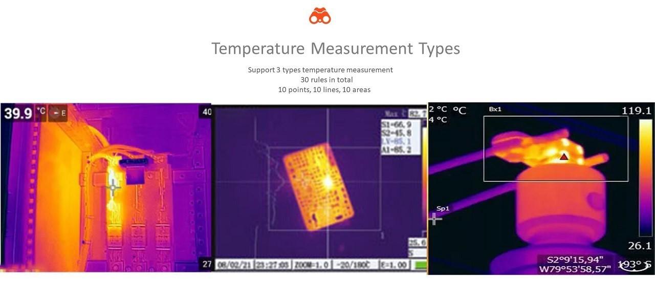 temperature measurement , two lights camera