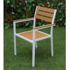 Wholesale Modern Outdoor WPC Garden Chair With White Aluminum Frame(YF-SMC201)