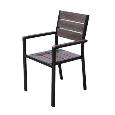 Wholesale Modern Outdoor WPC Garden Chair With Aluminum Frame(YF-SMC202)