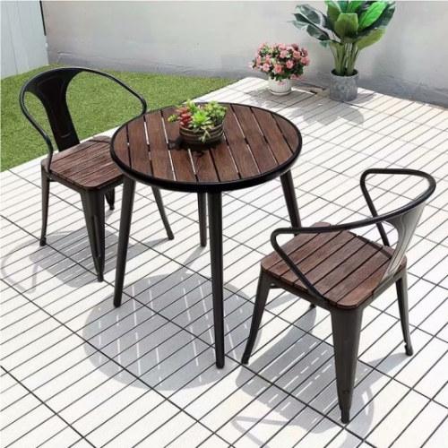 Wholesale Outdoor WPC Patio Garden Chair With Aluminum Frame(YF-SMC203)