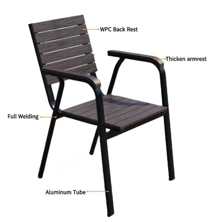 Wholesale Modern Stackable Outdoor WPC Garden Chair(HW085)