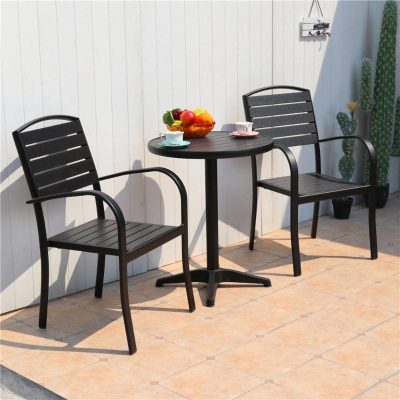 Wholesale Modern Stackable Outdoor WPC Garden Chair(YF-SMC205)