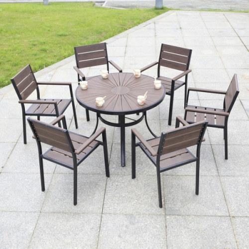Wholesale Morden Outdoor Round WPC Garden Sets (YF-SMC204 YF-SMT205)