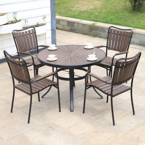 Wholesale Morden Outdoor Round WPC Garden Table(YF-SMT205)