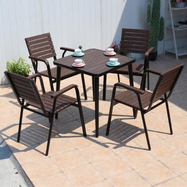 Wholesale Outdoor Square WPC Garden Dining Table (YF-SMT206)