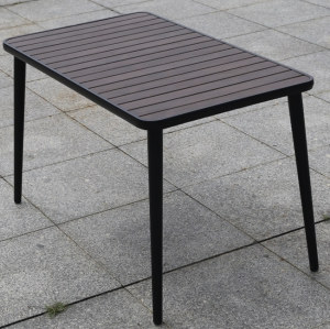Wholesale Outdoor Rectangle WPC Garden Dining Table with Metal Frame(YF-SMT207)