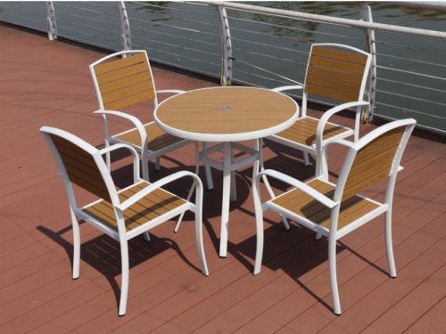 Wholesale Modern Stackable Outdoor WPC Garden Chair(YF-SMC208)