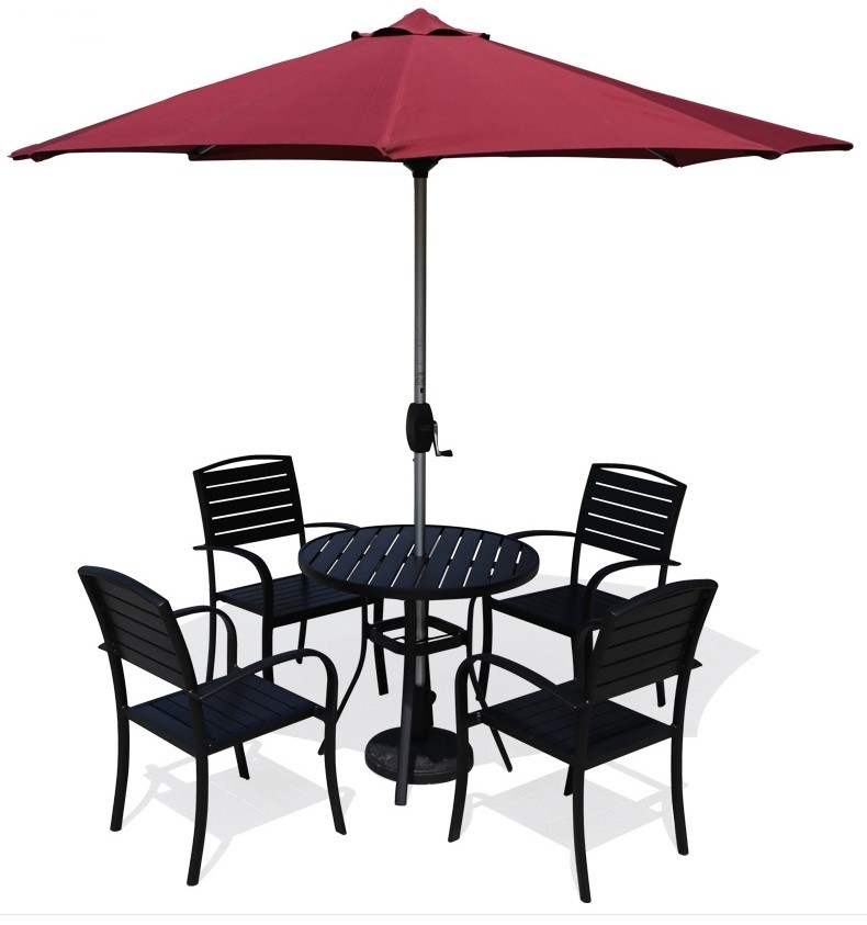 Wholesale WPC Garden Furniture Outdoor Set with 4 Chairs and 1 Table (YF-SMC217 YF-SMT225)