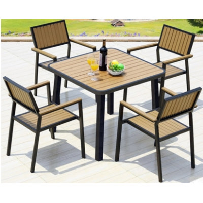 Wholesale WPC Garden Furniture Outdoor Dining Set with  4 Chairs and 1 Table (YF-SMC216 YF-SMT221)