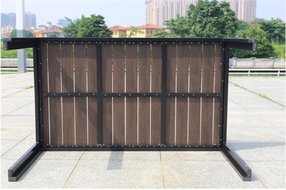 Wholesale Outdoor Rectangle WPC Garden Dining Table (YF-SMT209)
