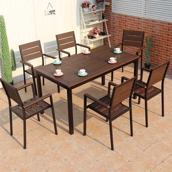 Wholesale Outdoor Rectangle WPC Garden Dining Table(YF-SMT210)