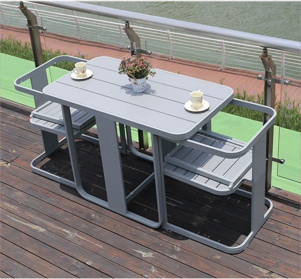 Wholesale Aluminium Outdoor Furniture Garden Set with 2 Chairs and 1 Table (YF-HW804)