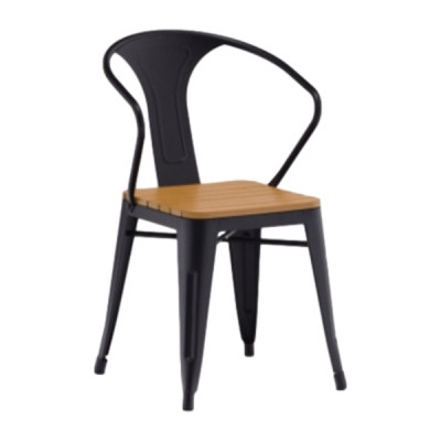 Wholesale Outdoor Stackable WPC Patio Garden Chair(YF-SMC210)