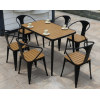 Wholesale Morden Outdoor Rectangle WPC Garden Set with 1 table and 6 Chairs (YF-SMC210 YF-SMT218)