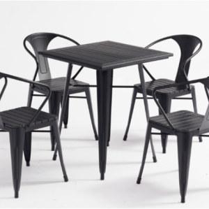 Wholesale Outdoor Stackable WPC Patio Garden Chair(YF-SMC211)