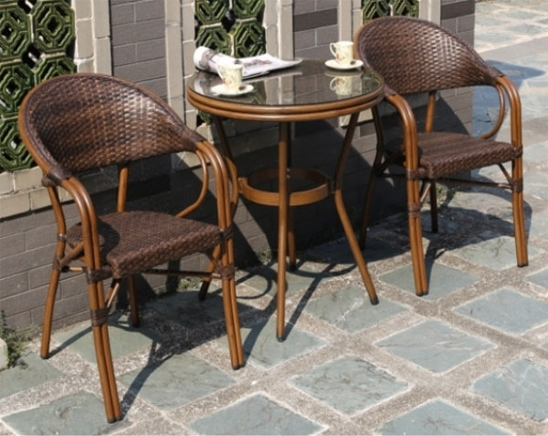 Wholesale Patio PE Aluminum Outdoor Rattan Bamboo Chair(HWA-02)
