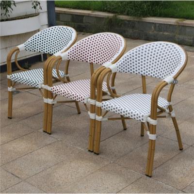 Wholesale Outdoor Furniture Patio PE Aluminum Rattan Bamboo Dining Chair(YF-BT412)