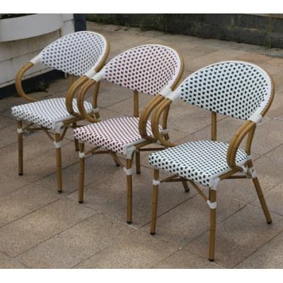 Wholesale Patio PE Aluminum Outdoor Rattan Bamboo Chair(YF-BT413)