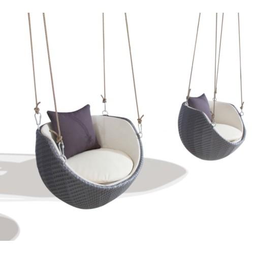 Wholesale aluminium plastic rattan outdoor swing chair(YF-BT404)