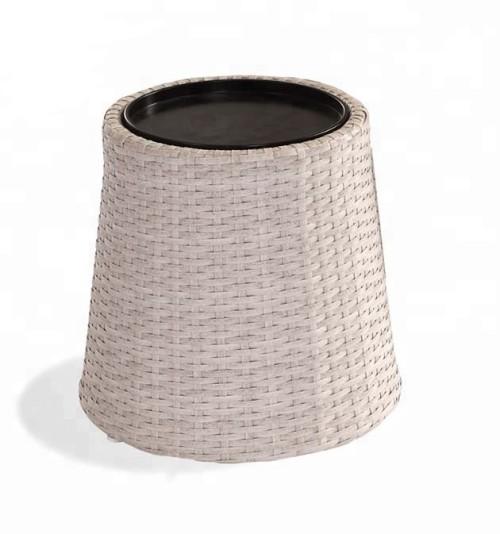 Wholesale garden rattan stool outdoor furniture aluminium storage box(YF-HW802)