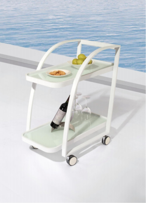 Wholesale Outdoor Garden Restaurant Dining White Trolley(YF-HW801)