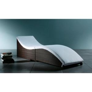 Wholesale aluminium rattan outdoor simplicity multipurpose sun lounger (YF-BT407)