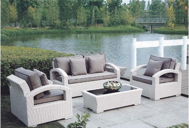 Wholesale modern comfortable PE rattan sofa furniture set(YF-SF302#)
