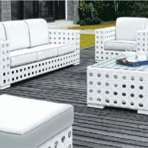 Wholesale Modern White Garden PE Rattan Sofa Set(YF-SF303#)