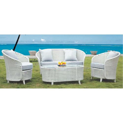 Wholesale Modern White Garden PE Rattan Sofa Set(YF-SF306#)