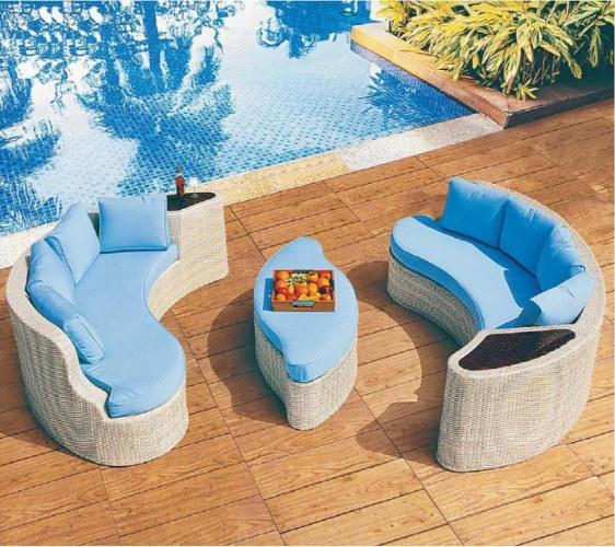 Wholesale outdoor furniture garden corner sofa set with tea table(YF-SF308#)