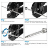 Stainless Steel 1/8 Cable Railing Hardware | Hand Swage Stud with Nut and Washer for 1/8 Wire Cable