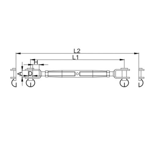 Stainless Steel Turnbuckle M6 Marine Grade 316  Jaw Wire Rope Fork Rigging Screw|Bottle Screws
