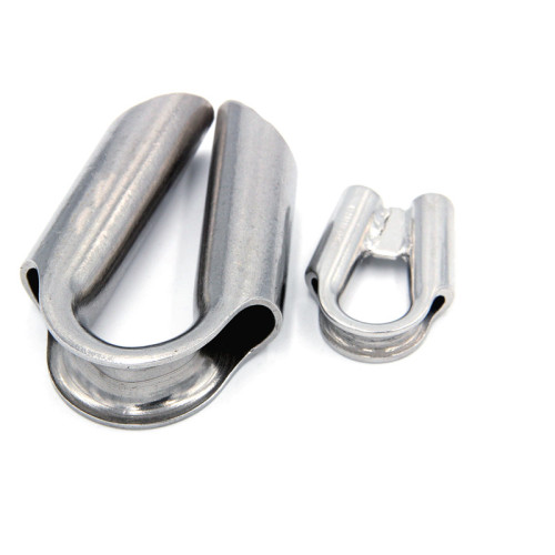 Stainless Steel Wire Rope Tube Thimbles Clamp Heavy Duty 304 materials for 3/16 Boat Tube Winch Rope