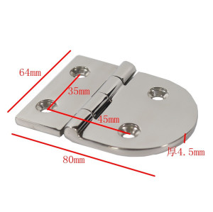 Mirror Polished Door Hinges Marine Grade CAST Solid 316 Stainless Steel Heavy Duty Boat Hinge 76MM x 38MM