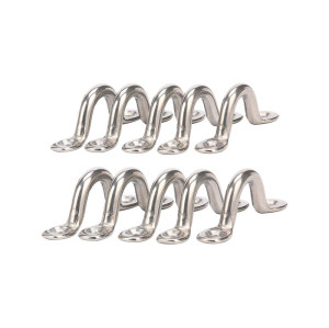 Stainless Steel Pad Eye| Eye Straps|Tie Down|Kayak Deck Loops|Tie Down Anchor Point|footman's Loop for Cable railing and rigging