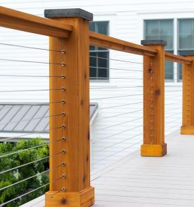 Cable Railing Hardware for Wood Posts | Timbertech Cable Rail Hardware Kit