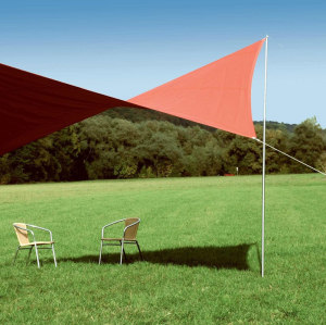 Triangle Sun Shade Sail Type with Strips Durable UV Shelter Canopy for Patio Outdoor Garden or Backyard